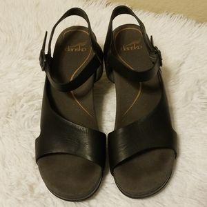 Dansko Tasha Leather Clogs Sandals Size 40